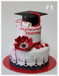 GRADUATION CAKE - by Linda Bellavia Cake Art @ CakesDecor.com - cake decorating website