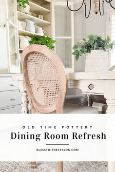 Simple Summer Dining Room Refresh With Old Time Pottery | Bless This Nest