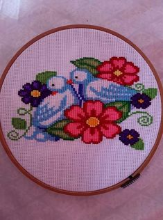 Rock Art, Cross Stitch Patterns, Needlework, Birds, Cross Stitch Embroidery, Kids Part, Diy And Crafts, Crochet Decoration, Cross Stitch Samplers