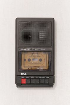 Urban Outfitters Retro Shoebox Cassette Tape Recorder + Usb Player - Black One Size Casette Tapes, Urban Outfitters, Arcade Game Machines, Arcade Games, Old Technology, Tape Recorder, Retro Aesthetic, Music Aesthetic, Retro Futurism