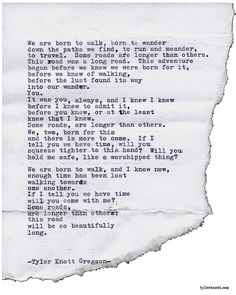 Typewriter Series #1948 by Tyler Knott Gregson Check out my Chasers of the Light Shop! chasersofthelight.com/shop