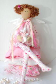 The Princess and The Pea Interior Dolls Textile Tilda Cloth Doll Handmade | eBay