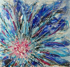 BLUE AND WHITE CANVAS ART