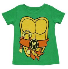 TMNT Teenage Mutant Ninja Turtles Costume Green Toddler T-shirt $15.95 (save $8.00)