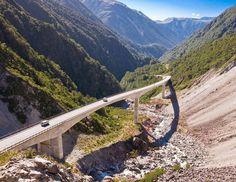 Otira Viaduct, Arthur's Pass National Park, Southern Alps, Canterbury, South Island, New Zealand