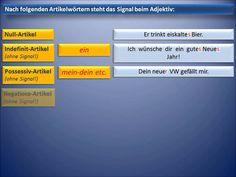 Die Adjektiv - Deklination - Deutsche Grammatik