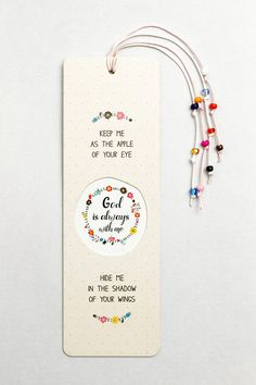 EB-07 Christian bookmark God always with me Gift