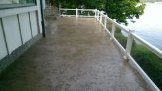 Decorative Concrete Back Patio Deck and steps, Laurie MO