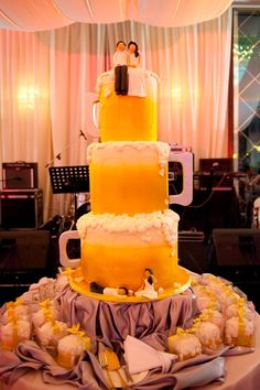 #wedding beer cake. Now if there was a cake that got my attention its this one. Comment is Peter Greenaway from The wedding boutique ,www.bridalshoesuk.co.uk
