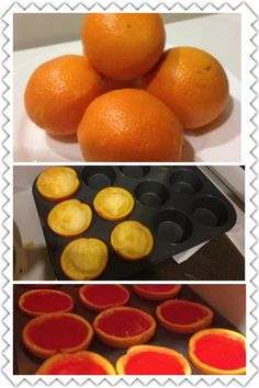 Orange Peel Jello Shots, just slice once they've set!