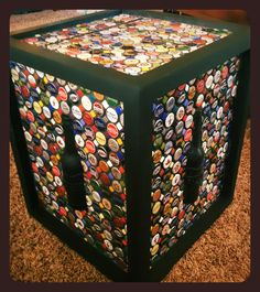 Bottle cap mosaic table