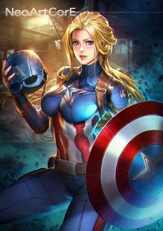 marvel,hydra-Captain America knows the sometimes sacrifice is needed to right a wrong. How the USA could use her now 🇺🇸🇺🇸🇺🇸 marvel disneyIf a Marvel Comics, Bd Comics, Comics Girls, Marvel Fan, Marvel Heroes, Anime Sexy, Die Rächer, Female Superhero, Female Hero