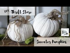 These Thrift Store/Dollar Tree Sweater Pumpkins are so easy to make! store crafts dollar tree DIY No Sew Sweater Pumpkins Diy Pumpkin, Pumpkin Crafts, Fall Crafts, Holiday Crafts, Diy Crafts, Holiday Decor, Seasonal Decor, Dollar Tree Pumpkins, Dollar Tree Crafts