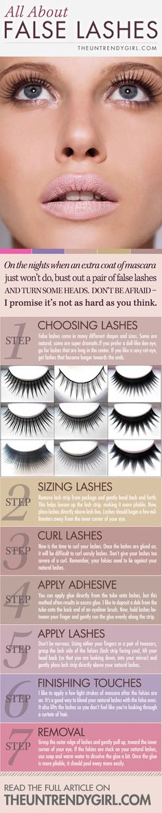 7-STEPS TO PERFECT FAKE LASHES-pictorial + step by step instructions