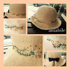 Hat makeover. Embroidery.