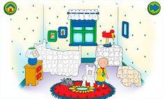 Descarga gratis la app para niños de preescolar: La casa de rompecabezas de Caillou. Aplicaciones gratis de Android para niños. Descarga puzles gratis