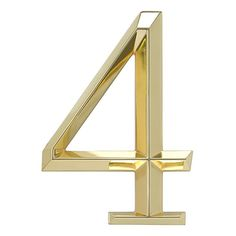 Whitehall Products Classic 6 Inch number 4 Polished Brass, 6 Inch