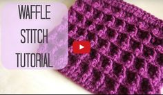 A tutorial for how to crochet the waffle stitch which makes a lovely dish cloth or baby blanket. I a...