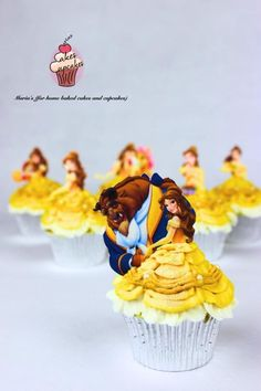 Beauty and The Beast Cupcakes by Maria's