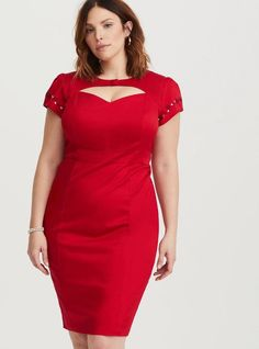 0f651ab587 Torrid Womens Plus Size 24 Betty Boop Red Embroidered Keyhole Cap Sleeve  Dress  fashion
