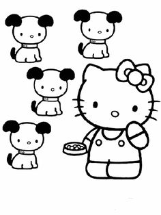 Hello Kitty coloring pages on ColoringBookinfo ColoringHello