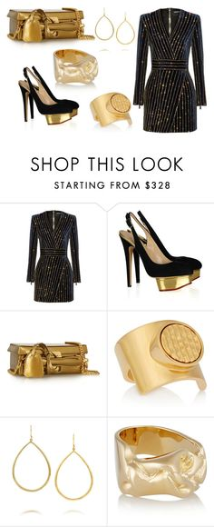 """Sans titre #1018"" by carla-afonso on Polyvore featuring mode, Balmain, Emilio Pucci, Mark Cross, Chloé, Ippolita et Jennifer Fisher"
