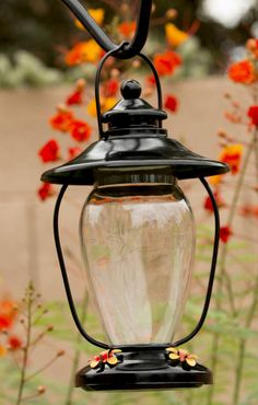 Black Lantern Hummingbird Feeder - We Love Hummingbirds