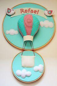 Fitas & Rendas: Porta Maternidade Balão