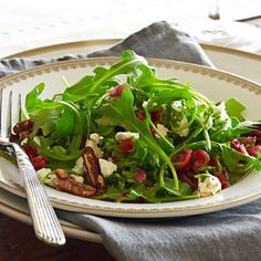 Arugula Salad with Goat Cheese, Toasted Pecans and Cranberry Vinaigrette | Williams-Sonoma