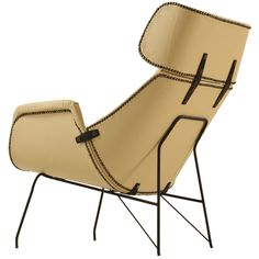 lounge chair - italy - 1950s - LENGTH: 	27.76 in. (71 cm) DEPTH: 	37.8 in. (96 cm) HEIGHT: 	37.01 in. (94 cm) SEAT HEIGHT: 	17.72 in. (45 cm)