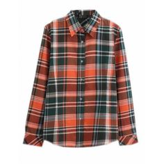 Unko Womens Classic Plaid Button Down Flannel Plaid Shirts (25 BRL) ❤ liked on Polyvore featuring tops, button-down shirt, plaid top, plaid button-down shirts, button down top and button up shirts