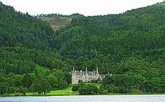 Scotland, UK: Trossachs Hotel on the banks of Loch Achray