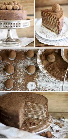 Choc Amaretto crepe cake