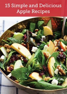 Check out these 15 simple and delicious apple recipes, from tasty salads to decadent desserts. You are sure to find just the one you need for your next Sunday brunch!