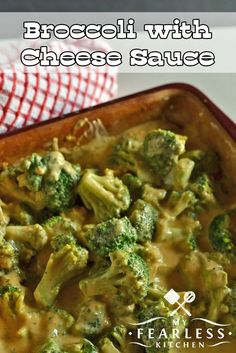 frozen broccoli recipes Broccoli with Cheese Sauce from My Fearless Kitchen. This recipe for Broccoli with Cheese Sauce is creamy, comforting, and so yummy! Use frozen broccoli to make it even easier, and its a snap to make any time. Brocoli And Cheese, Cheese Sauce For Broccoli, Broccoli Cheese Casserole, Cheese Sauce For Vegetables, Beef Kabob Recipes, Sauce Recipes, Vegetable Recipes, Cooking Recipes, Healthy Recipes
