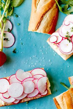 """Steven Satterfield, the chef at Miller Union in Atlanta, included this very French picnic recipe in his cookbook, """"Root to Leaf."""" As he points out, the key is to use a lot of butter, a lot of radishes and plenty of salt The recipe yields four sturdy desk- or school-lunch sandwiches, or you can divide them further, into a dozen little bites for hors d'oeuvres."""