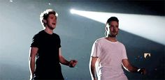 I love these dorks! Niall and Liam  - OTRA Tour - 10/25/15