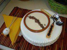Crema de arroz con leche con virutas de chocolate