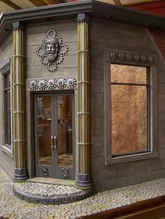Steampunk building by Chanman. (April of Wildwood Dollhouses) Check out the zipper! in other pin...