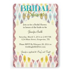 Bohemian Chic Bridal Shower Invitation at Anchor For the Soul on Zazzle at: http://www.zazzle.com/bohemian_chic_bridal_shower_invitation-161330103773857133