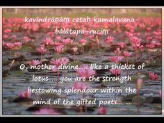 Soundarya Lahari – ( waves of Beauty)  Ananda Lahiri Excerpts–with Engli...