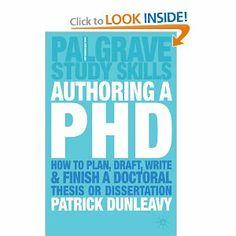 Planning a phd dissertation