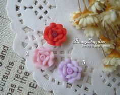 6pcs 11mm Polymer Clay flowers FIMO flowers Straight by baosy, $2.39