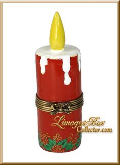 Christmas Red Candle with Holly Limoges Box by Beauchamp Limoges, www.LimogesBoxCollector.com, Christmas Gifts, Holiday Gifts, Gifts for Her, collectible Limoges Boxes