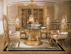 Luxury Dining Tables And Chairs | Italian Furniture   Phoebe Round Table  Italian Dining Room Furniture I NEED THIS SOMEDAY
