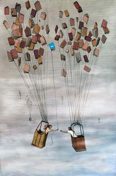 O cão que comeu o livro...: 5 ilustrações literárias de José Rosero / 5 literary illustrations by José Rosero