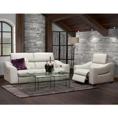 Concept Decor 9202-2S2VA 9202 Leather power reclining loveseat - Daleys BrandSource Home Furnishings - Fredericton NB