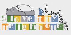 Love Thy Neighbour Totoro counted cross stitch by CapesAndCrafts