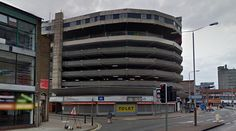 Sky Plaza Hotel on top of Abbey Street Car Park - #architecture #googlestreetview #googlemaps #googlestreet #uk #leicester #brutalism #modernism