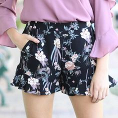 Fall Forward Floral Shorts from Cousin Couture.